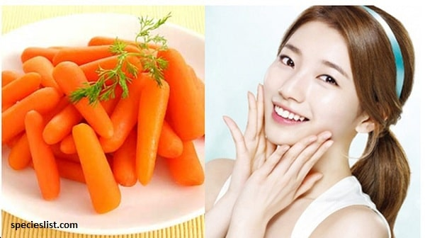 Cách làm trắng da mặt tại nhà đơn giản với cà rốt