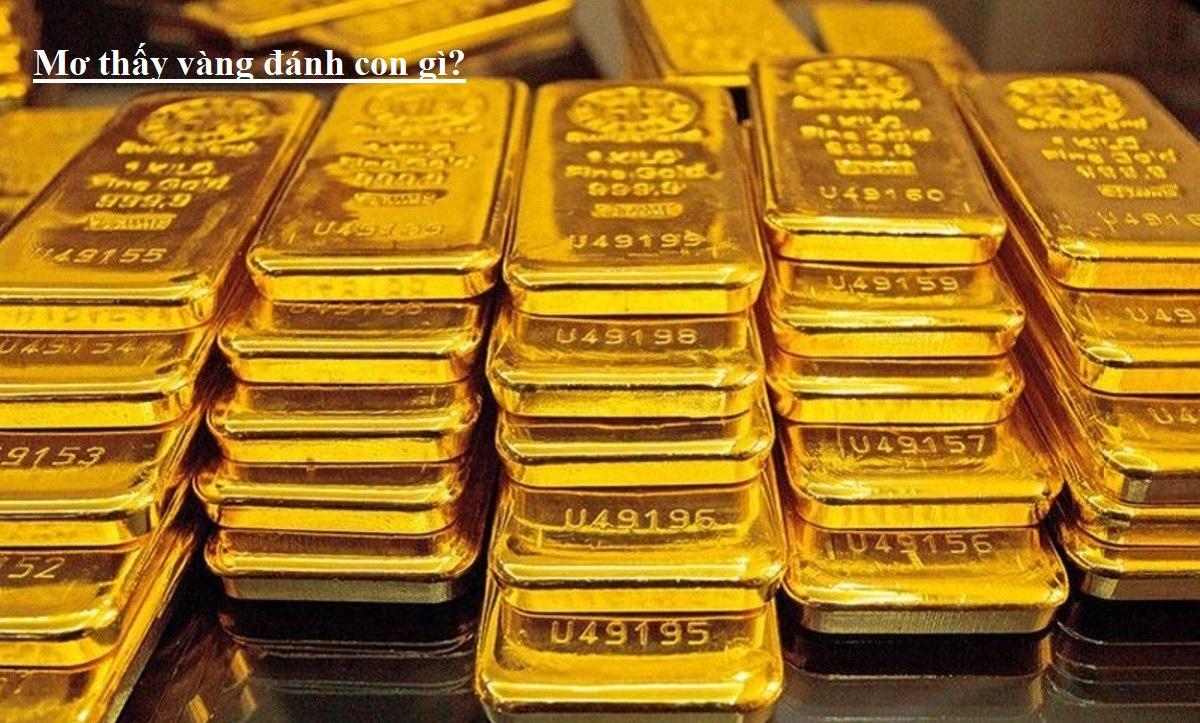 giải mã lô đề khi mơ thấy vàng